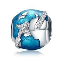 I Love Travel & The World Charms Pandora 925 Sterling Silver Pandora