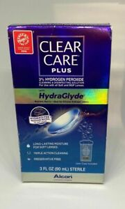 Clear Care Plus Cleanser Hydrogen Peroxide HydraGlyde 3oz READ DESCRIPTION