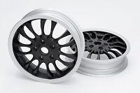 Felge Paar Schwarz polierter Rand Alu 3.00-12 für Vespa Sprint GT GTS GTV
