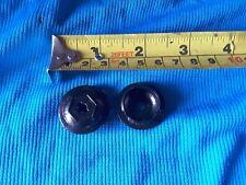 Pair of Black Crank Dust Caps  shimano fsa compatible Chainset