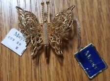 Vintage MONET Butterfly Pin Brooch Gold Tone - New with Tags