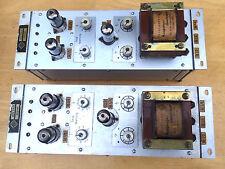 Pair TELEFUNKEN Tube Preamplifier KTV 711-2 ECC81 ECC83 Control Amplifier 1960s?