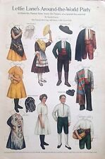 Lettie Lane Mag. Paper Doll Lhj by Sheila Young, Feb. 1911, Spanish Boy & Girl