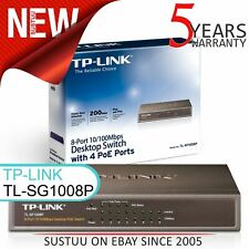 TP-Link TL-SF1008P│8-Port 10/100/1000 Mbps Desktop Switch with 4-Port 15.4W PoE