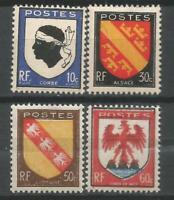 FRANCE 1946   Série YT  n° 755 à 758 neufs ★★ Luxe / MNH