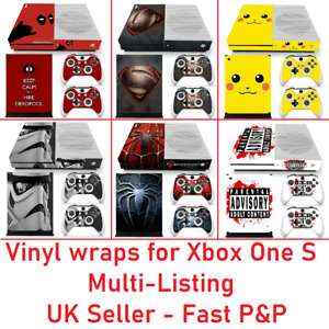 Vinyl sticker wrap skin decal set for XBOX ONE S Console and 2 x Controllers