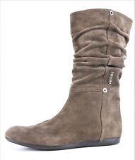 Prada Women's Brown Suede Slouch Boots 2367 Size 37