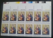 US Stamps, 1975 Madonna & Child, MNH plate block 12, #1579