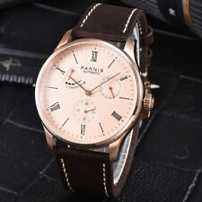 42mm Parnis Sea gull Power Reserve Roman Numerals Automatic Movement Mens Watch