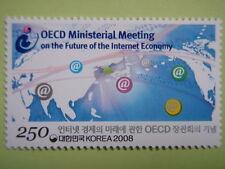 Korea 2008 OECD Ministerial Meeting on Internet Economy World Map MNH