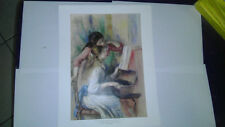 Young girsl at the piano - pierre auguste renoir Laminated 45 x 32 inch