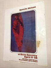 Original Vintage Concert Poster Novella Nelso At Reno Sweeney Rare