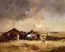 Victor Pierre HUGUET campement arabe d'impression A4