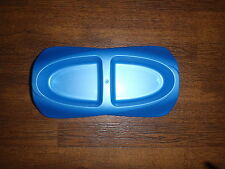 Cat Kitten Chihuahua/small breed dog food/water bowl Blue plastic twin bowl