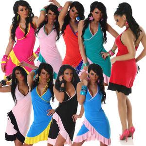 Kleid Cocktailkleid Tanzkleid V-Ausschnitt Partykleid 34 36 38 S M