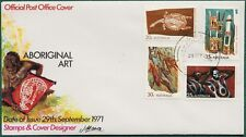 1971 ABORIGINAL ART POST OFFICE FIRST DAY COVER UNADDRESSED (A2832)