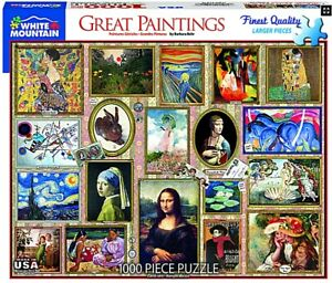Great Paintings 1000 piece jigsaw puzzle 760mm x 610mm (wmp)