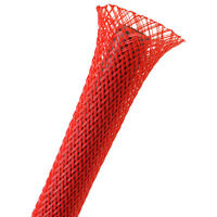 """Techflex 1/2"""" Expandable Sleeving 25 ft. Red"""