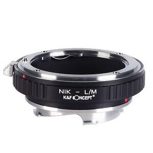 Nikon-L/M Adapter Ring for Nikon F mount Nikkor AI lens to Leica M L/M LM Camera