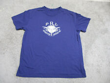 VINTAGE Ralph Lauren Polo Sporting Goods Shirt Adult Extra Large Blue Mens S