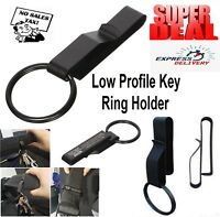 Key Ring Belt Clip Holder Tactical Black Police Security Keys Chain Keyring Tool