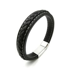 Leren Armband Zwart Heren