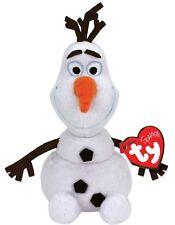 TY 30CM DISNEY FROZEN OLAF SPARKLE SNOWMAN WITH SOUND SOFT TOY BEANIE BUDDY NEW