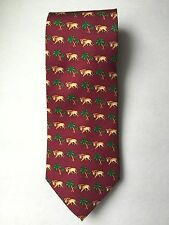 VIVACE  SILK TIE LIONS AND PALM TREES MADE IN THE USA MULTICOLOR