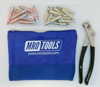 25 1//8 /& 25 3//16 Cleco Fasteners K4S50-1 Cleco Pliers w// Mesh Carry Bag