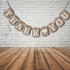 Thank You Banner Bunting Garlands Props Wedding Party Decorations Sign