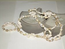 """Vintage Sea Shell Necklace-30"""" Pull-Over"""