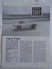 Jaguar E Type Autocar road test Reprint brochure Oct 1967