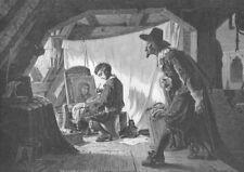 DUTCH ARTIST BOY PETER PAUL RUBENS Taught to Paint ~ 1882 Art Print Engraving