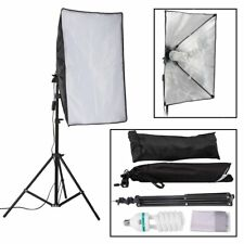 150W Photography Studio Softbox Continuous Lighting & 2m Light Stand + Bulb Kit