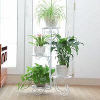 DAZONE Metal Outdoor Indoor Plant Stand Garden Decor Flower Rack Wrought Iron