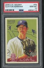 2008 Goudey CLAYTON KERSHAW Rookie Rc Card #75 Dodgers 115 Psa 10