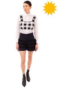 RRP €230 GOEN.J Jacquard Shorts Size M Patterned Bow High Waist Zipped Back