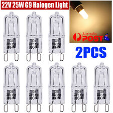2pcs 25W G9 Warm White Clear Halogen Dimmable Bi-Pin Light Globe 240V Stove Oven