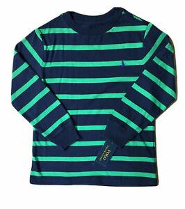 NWT Polo Ralph Lauren Long Sleeve Pony Logo T-Shirts; Toddler 3T/Little Boys 5