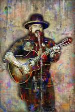 Zac Brown Poster, Zac Brown Band Artwork, Country Pop 12x18in Free Shipping Us