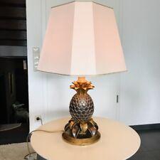 Große Lampe Tischlampe Ananas Pineapple 78 cm Gold