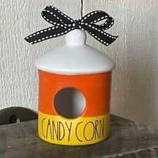 Candy corn mini ceramic birdhouse outdoor living home & garden