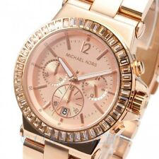 Michael Kors MK5412 Rose Gold Dylan Baguette Crystal Chronograph Ladies Watch