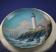 Pigeon Point Light~Pescadero, Ca Lighthouses Of America Danbury Mint Plate 1993