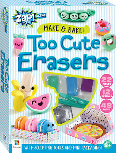 Make And Bake Too Cute Erasers Children Craft Fun Games 22 Pieces Free Shipping!