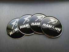 4x 65mm Hamann Sticker Stickers Decal Badge For Center Caps Hub Cap Wheel Rim