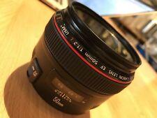 Canon EF 50mm f/1.2 L AF USM Lens + 3 Filters + Orignal Box