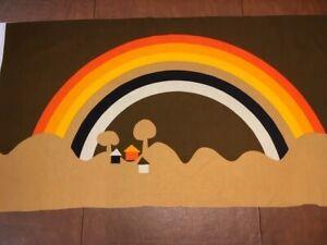 Int'l Printworks Tampella Fabric Wallhanging Rainbow- Vintage Retro Mid Century