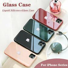 Funda Para i Phone 11 Pro XS Max 8 7 6s Plus caso plateado templado vidrio+Logo