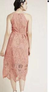 NWT Eri + Ali Anthropologie Eva Lace Midi Dress Size 16